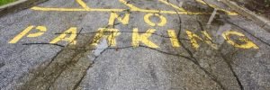 Cracked Parking Lot